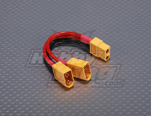 XT60 Harness for 2 Packs in Parallel (1pc)