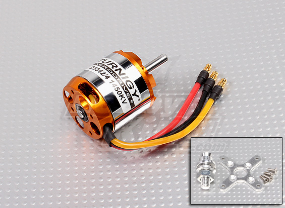 (.) Turnigy D3542/4 1450KV Brushless Outrunner Motor 5mm shaft